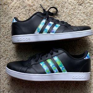 Adidas neo cloudfoam black shoes